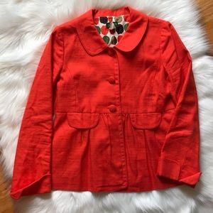 J. Crew Ottoman Molly Jacket Orange Size 6